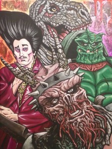 Gwar 12x16 Acrylic and collage on canvas SOLD