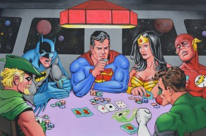 Poker League 24x36 Acrylic on canvas (SOLD)