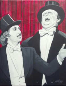 Young Frankenstein 11x14 Acrylic and collage on canvas (SOLD)