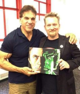 Mr. Lou Ferrigno with his new Hulk painting.